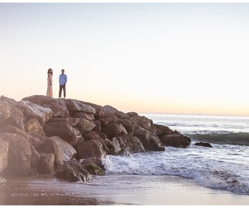Los Angeles Engagement Session | Venice Beach & LACMA | Mridula & Venkatesh